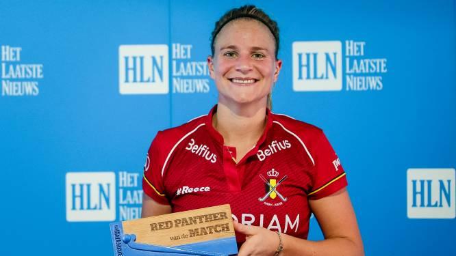 Alix Gerniers verkozen tot 'Red Panther van de Match' tegen Wit-Rusland