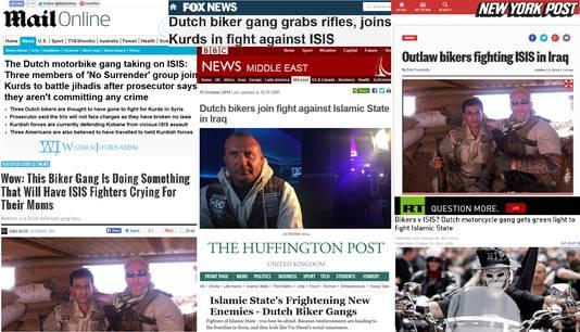 Screenshots diverse internationale nieuwssites en -blogs.