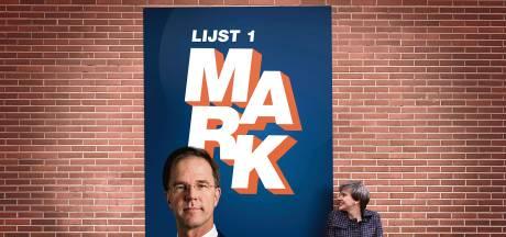Het merk Mark: vroeger stond Ruttes hoofd niet eens op verkiezingsposters, nu ís hij de VVD