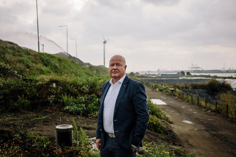 Afvalstort Nauerna in Assendelft vangt slechts een deel van het Amsterdamse afval op, waarschuwt directeur Bert Krom.