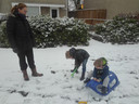 Sneeuwpret in Rosmalen.