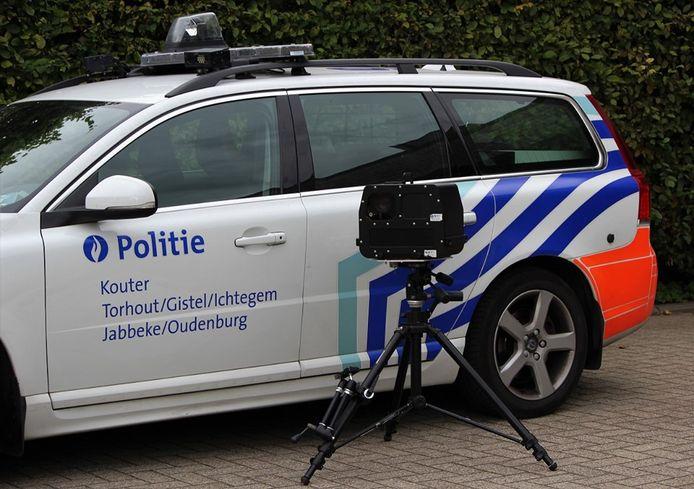Het flitstoestel van de Lokale Politie Kouter staat volgende week in Gistel en Torhout.