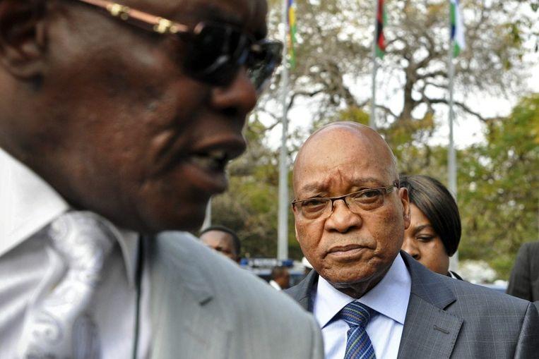 President Zuma keert vandaag terug uit Mozambique vanwege het bloedbad. Beeld epa