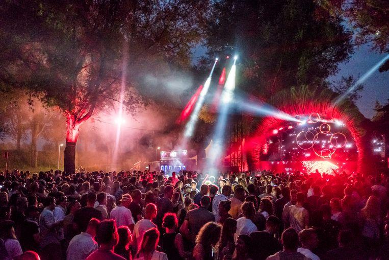 Festival Mysteryland op het Floriadeterrein bij Haarlemmermeer in 2017. Beeld HH / Joris van Gennip