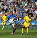 Youri Tielemans tijdens de laatste wedstrijd van het seizoen tegen Chelsea.