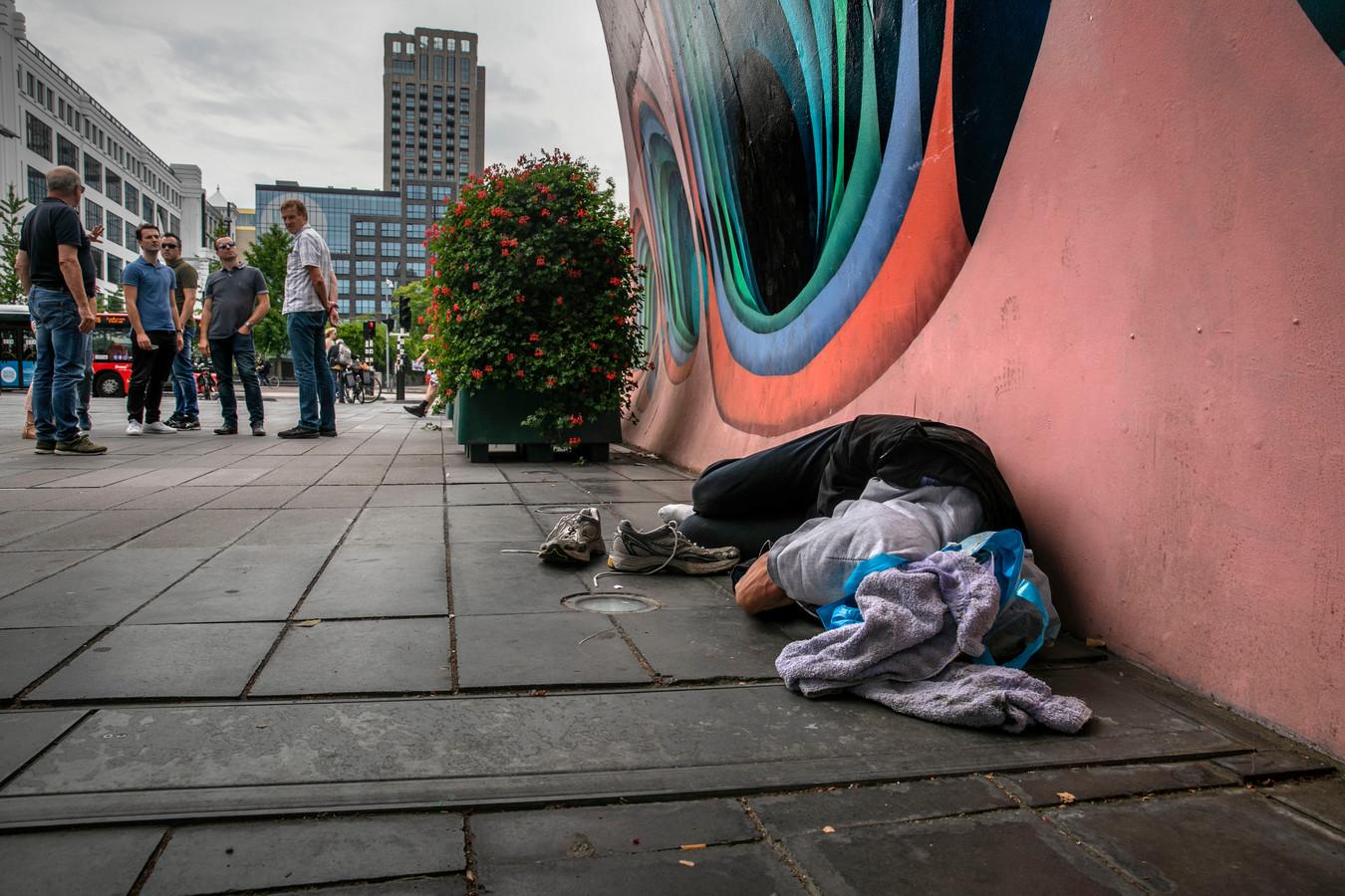 Het 18 Septemberplein in Eindhoven (foto is in scène gezet).