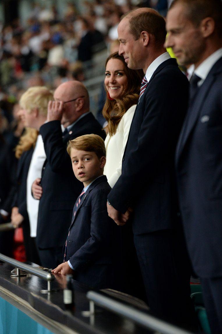 Prins George in het stadion bij de EK-finale. Beeld UEFA via Getty Images