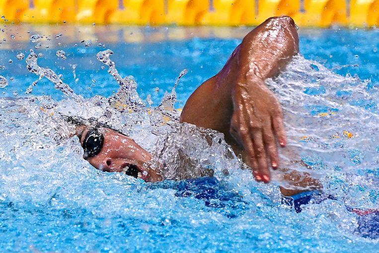 Ranomi Kromowidjojo op weg naar haar gouden medaille. Beeld AFP