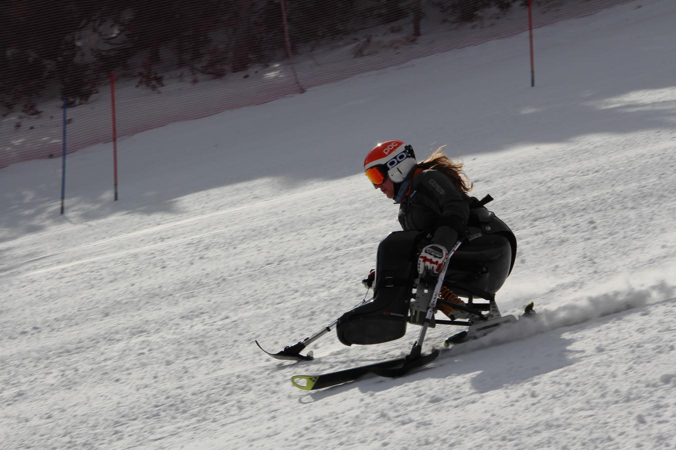 Elien Allaert toen ze nog aan skiën deed