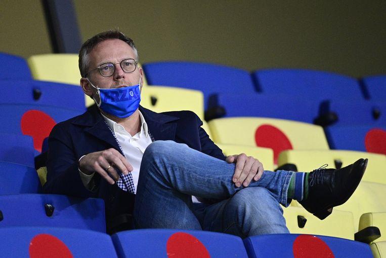 """Pro League-voorzitter Peter Croonen: """"We hebben zeer beperkte wedstrijdinkomsten, maar de vaste kosten blijven behouden."""" Beeld BELGA"""