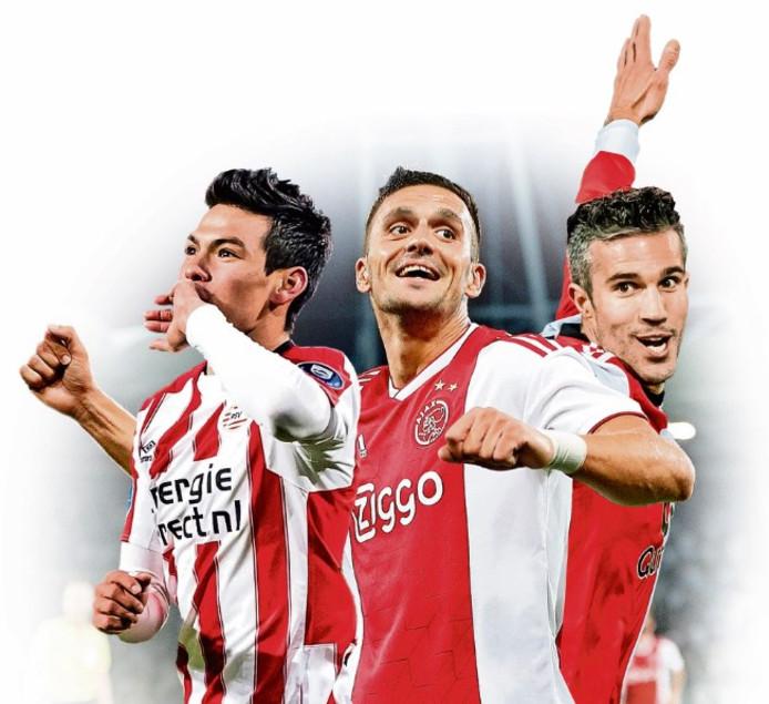 Blikvangers van de traditionele top 3-clubs: Lozano, Tadic en Van Persie.