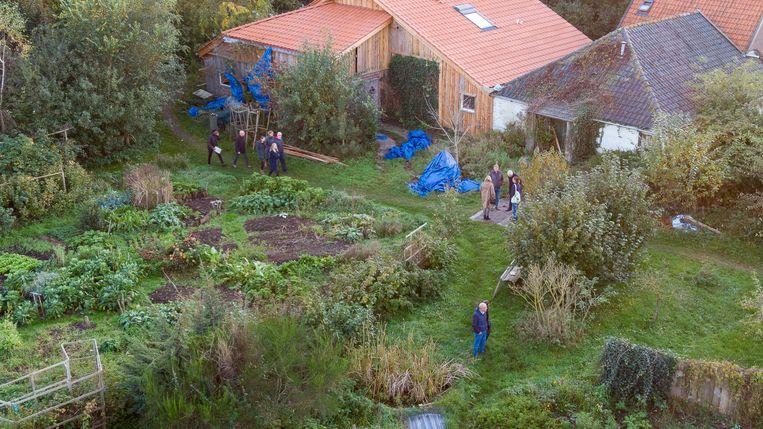 De boerderij waar Gerrit Jan van D. zijn gezin verborgen hield. Beeld ANP