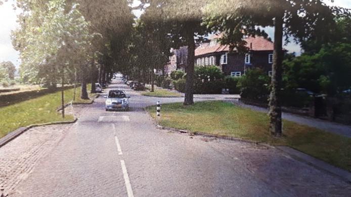 Referentiebeeld Oude Groenewoudseweg nadat fietspaden zijn ingeruild voor gras.