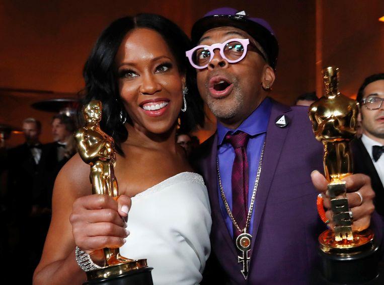 Acteur Regina King en regisseur en scenarioschrijver Spike Lee vielen vorig jaar in de prijzen. Beeld REUTERS