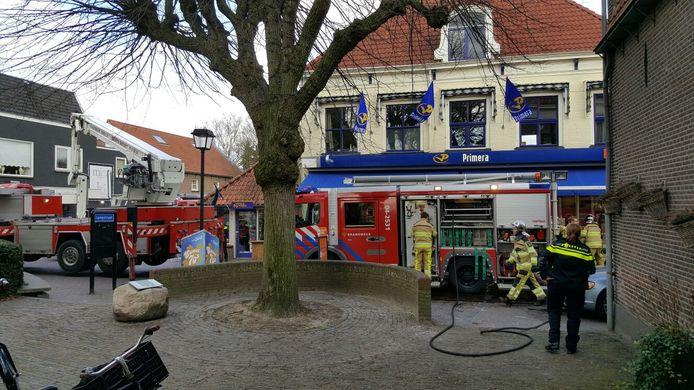Brand bij de Primera in Wijhe.