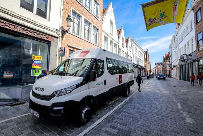 Zo zien de busjes van Keolis eruit. Er zijn 16 zitplaatsen en er is plaats voor bagage en kinderwagens.