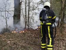 Brand in de natuur bij Oosterhout, sein brand meester