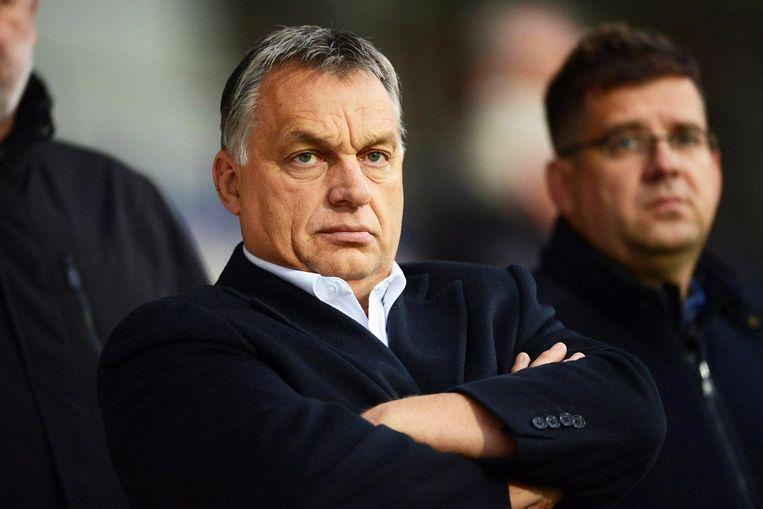 De Hongaarse premier Orbán leidt het verzet tegen de asielquota. Beeld null