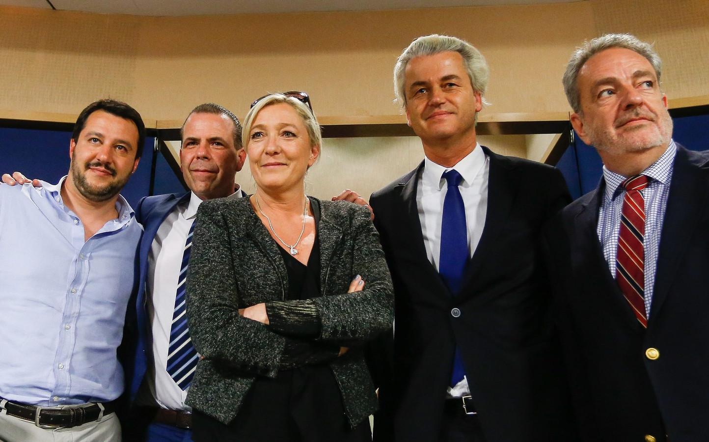 Geert Wilders met Marine le Pen.