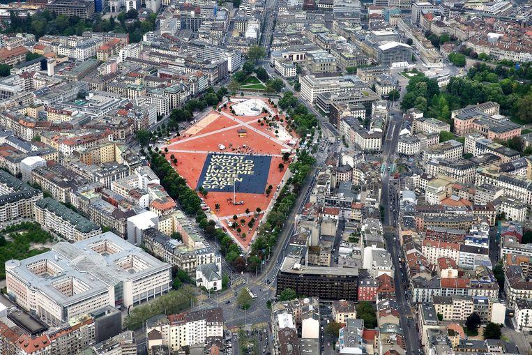 Het Plaine de Plainpalais in Genève. Beeld epa
