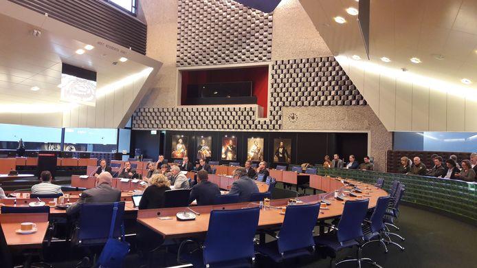 Het rondetafelgesprek in de Statenzaal van het Provinciehuis in Den Bosch vrijdagochtend