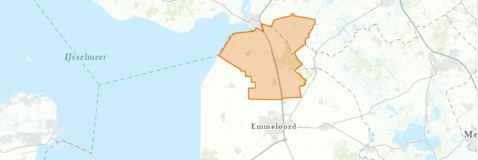 Het gebied dat volgens netbeheerder Liander hinder ondervindt van de stroomstoring.
