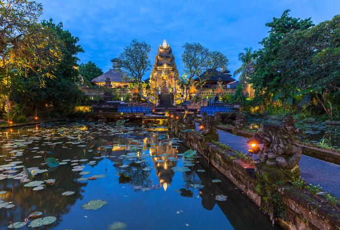 Pura Saraswati tempel, Ubud, Bali, Indonesië