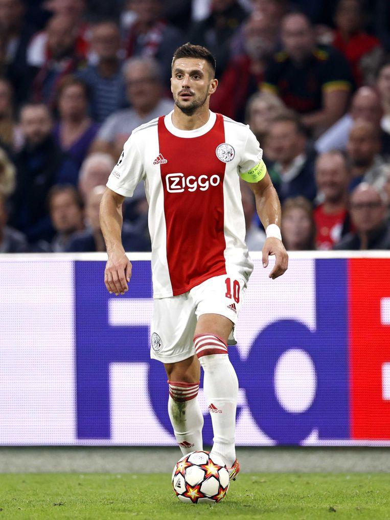 Dusan Tadic tijdens de UEFA Champions League wedstrijd tussen Ajax en Besiktas. Beeld ANP