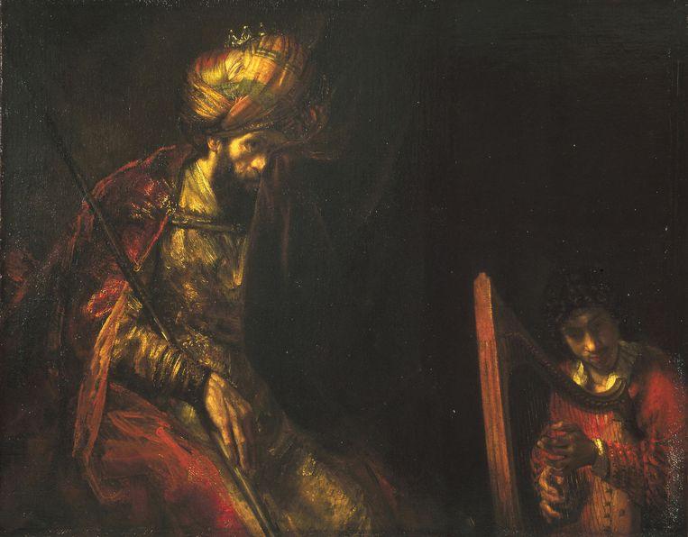 David en Saul van Rembrandt. Beeld .