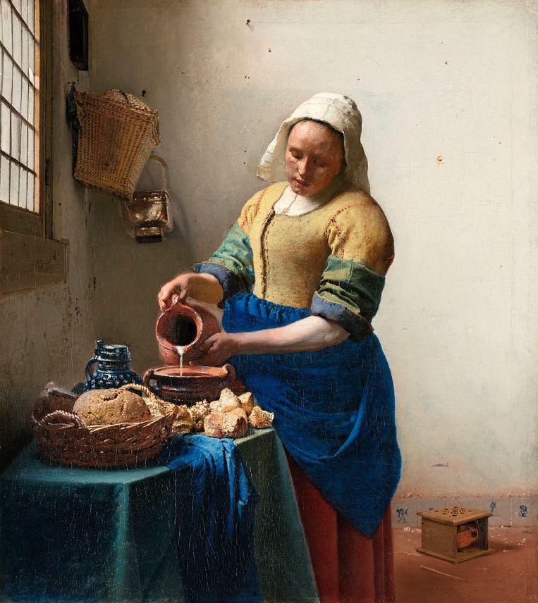 Johannes Vermeer, Het melkmeisje. Rijksmuseum, Amsterdam. Beeld Getty