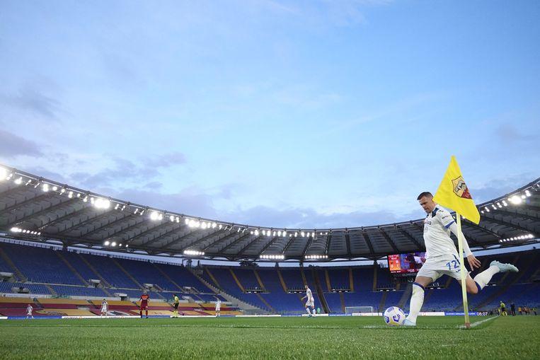 Het Stadio Olimpico in Rome mag tijdens het EK voor ongeveer een kwart worden gevuld met toeschouwers. Beeld REUTERS