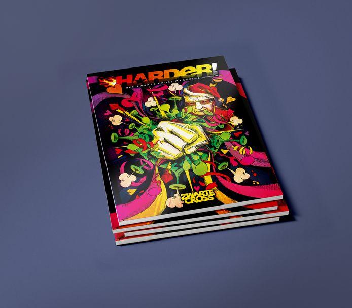 Magazine Harder! van de organisatie achter de Zwarte Cross. Het blad wordt vanaf volgende maand verkocht op meer dan 1800 locaties in Nederland.