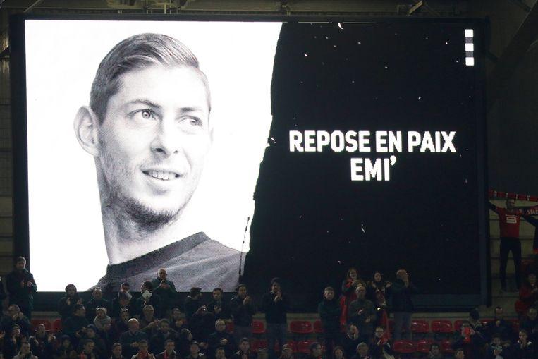 Eerbetoon van de supporters van Rennes tijdens de UEFA Europa League match, 14 februari 2019.