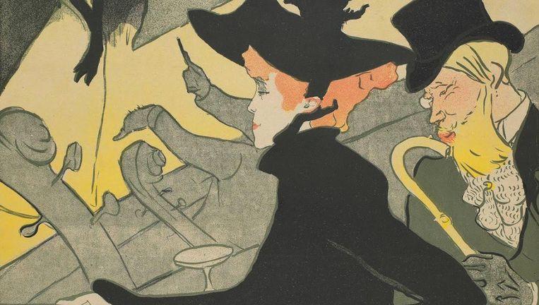 Affiche voor het café-concert Le Divan Japonais. Henri de Toulouse-Lautrec, 1893 Beeld Van Gogh Museum