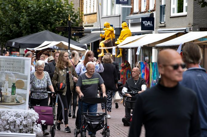 Straatkunst bij het Helmond Art Festival