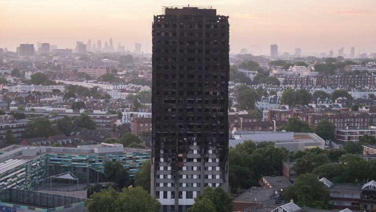 De uitgebrande flat Grenfell Tower in Londen. Beeld photo_news