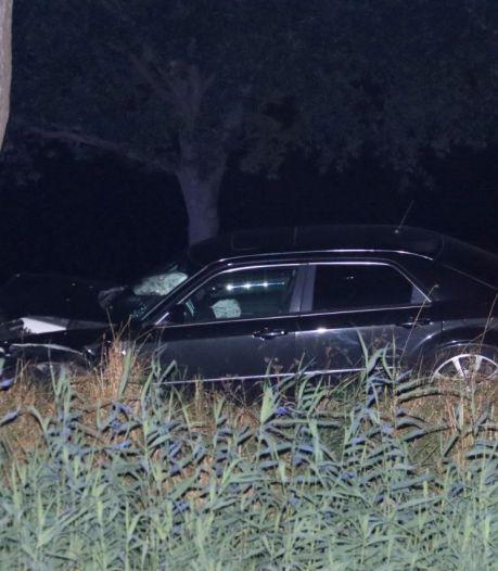 Auto botst frontaal tegen boom bij Meppel