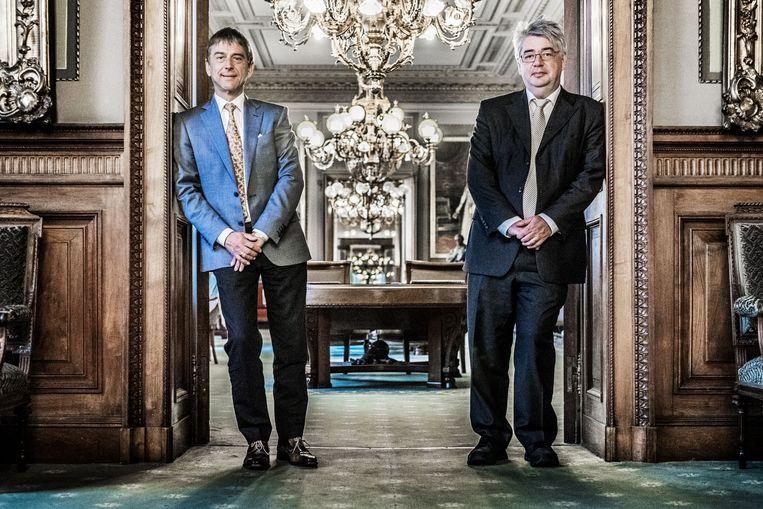 Servais Verherstraeten (links) en Hendrik Vuye. Beeld Bob Van Mol