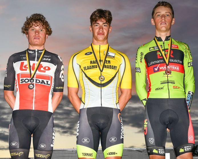 Noah Vandenbranden kroonde zich tot Brabants kampioen tijdrijden bij de beloften.