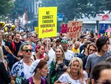 Tienduizend demonstranten maken van Utrecht even een kolkende festivalstad: 'Geef ons de vrijheid terug'