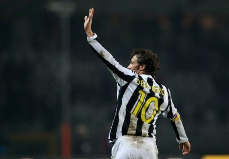 Del Piero bracht de thuisclub kort na rust op voorsprong. ANP Beeld