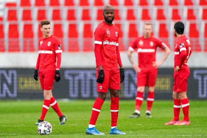 Lamkel Zé en maats na het oplawaai tegen Anderlecht.