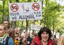 Demonstranten voerden in september actie tegen 5G in Den Haag.
