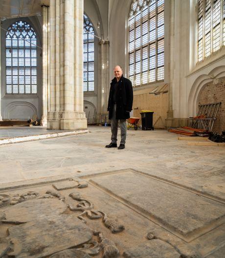 Blootgelegde grafzerken in Arnhemse Eusebiuskerk verkeren in uitstekende conditie