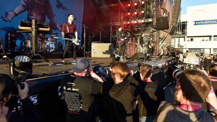 Snow Patrol speelde het afgelopen weekend op Rock am Ring in Duitsland Beeld epa