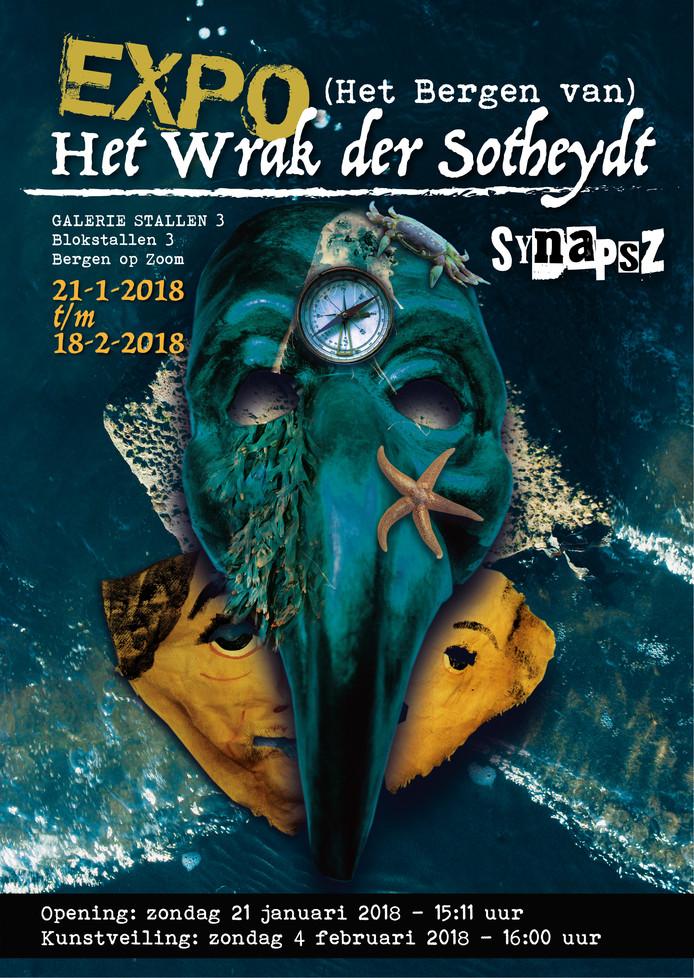 Affiche van de tentoonstelling 'Het Wrak der Sotheydt'.