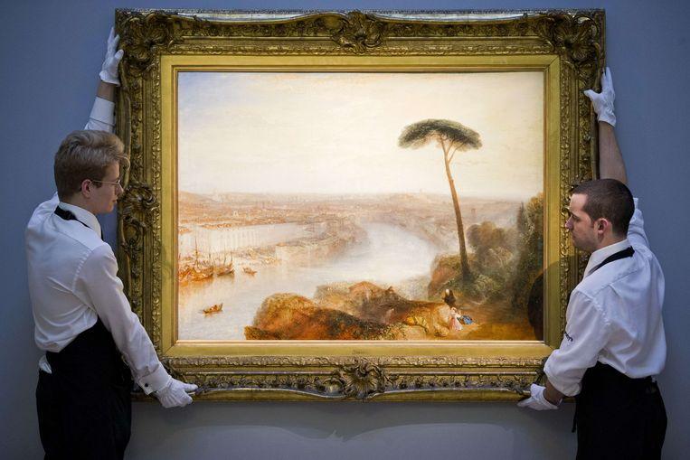 'Rome, From Mount Aventine' van J.M.W. Turner ging voor 30,3 miljoen pond van de hand bij Sotheby's. Beeld AFP