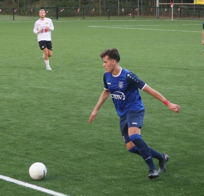 Alain Plaum in actie voor Rood-Wit Veldhoven.