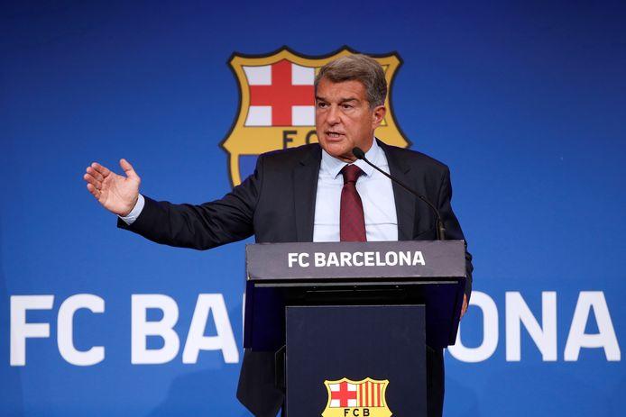 FC Barcelona-voorzitter Joan Laporta.