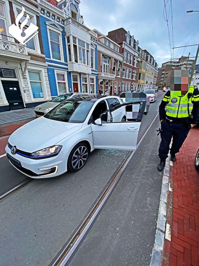 Agenten zette de achtervolging in, even later kon de bestuurder worden aangehouden.